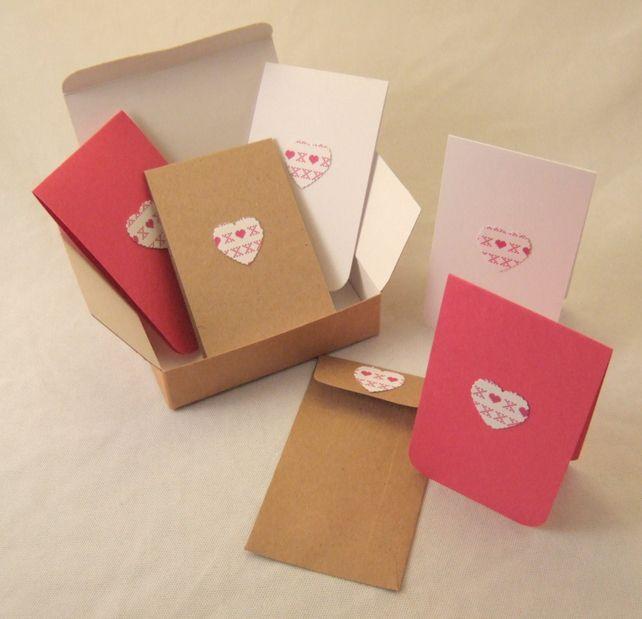 Printed Cross Stitch Notecards Set of 6,with presentation box,Handmade Notecards £3.50