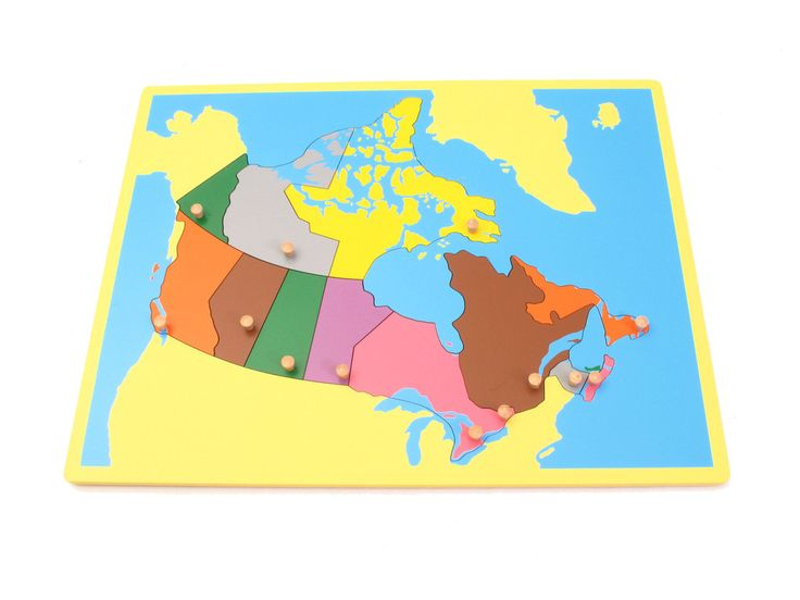 Board Map of Canada