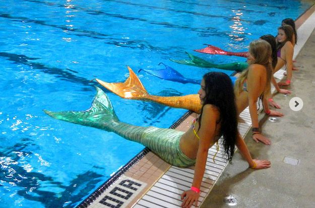 Custom-made mermaid fin bathing suits--I would have given up all my toys for one of these when I was little! PLEASE I STILL WANT THEM!!!
