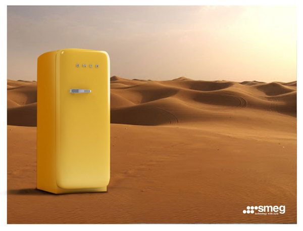 Smeg-Refrigerator. Advertising by Mohammadreza Faghihi, via Behance