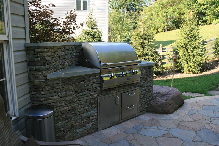 outdoor kitchen grill area patio pinterest. Black Bedroom Furniture Sets. Home Design Ideas