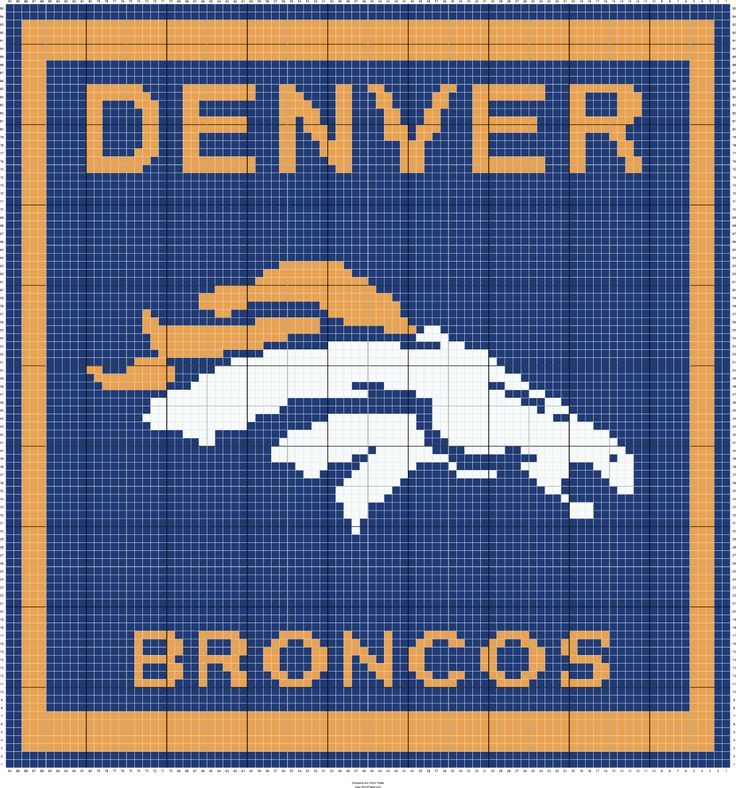 Denver Broncos Graph-NOTE: Denver Broncos Graph NOTE: looks like a pillow 90x95 blks