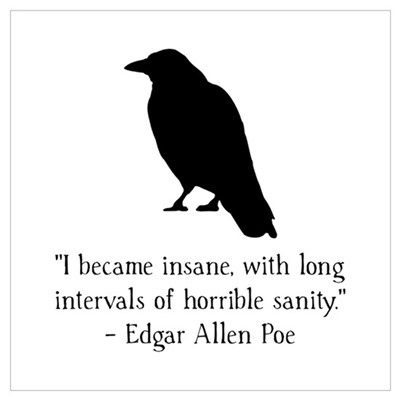 Edgar Allen Poe Quote Wall Art Poster