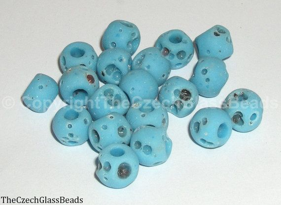 50g Czech Vintage Sintered Saucer Beads 10mm by TheCzechGlassBeads