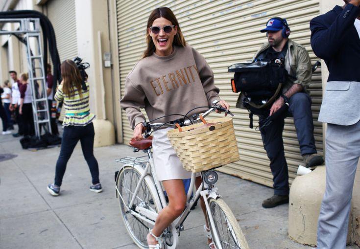 Street Style: Spring 2015 New York Fashion Week – Vogue Hanneli Mustaparta in a Calvin Klein top