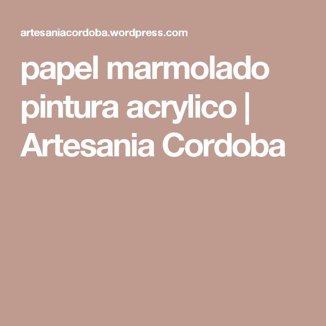 papel marmolado pintura acrylico | Artesania Cordoba