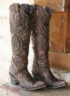 I've never liked the super blingy stuff but these I love --- Adorable pure leather cowboy boots