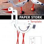 Paper+stork+++template