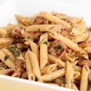 Bacon Chicken Pasta Recipe - Laura in the Kitchen - Internet Cooking Show Starring Laura Vitale