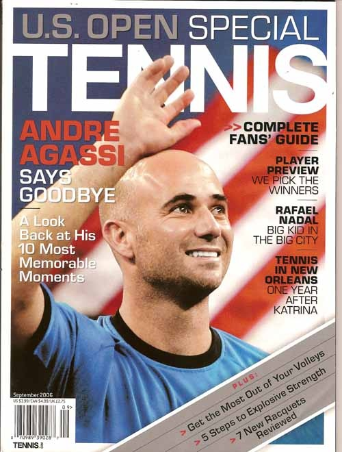 Tennis - Same issue I have signed by Agassi which got me US Open coverage camera time on USA