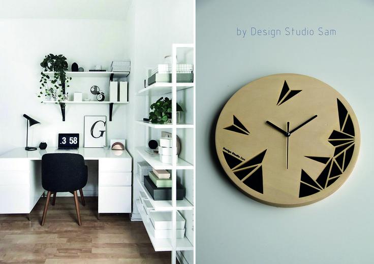 Design Studio Sam II Klok II Iets voor jou?! Lekker zwart en stoer... II Kijk voor meer info op www.designstudiosam.nl of blijf up to date op www.facebook.com/designstudiosam