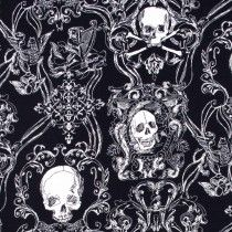 Fashion for Home - Skullduggery Black by Alexander Henry