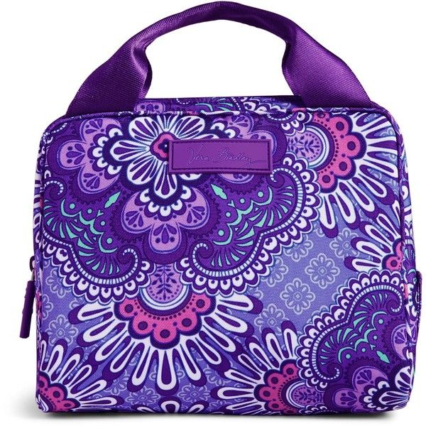 Vera Bradley Lighten Up Lunch Cooler Bag in Lilac Tapestry ($34) ❤ liked on Polyvore featuring home, kitchen & dining, food storage containers, lilac tapestry, lunch cooler, vera bradley and vera bradley bags
