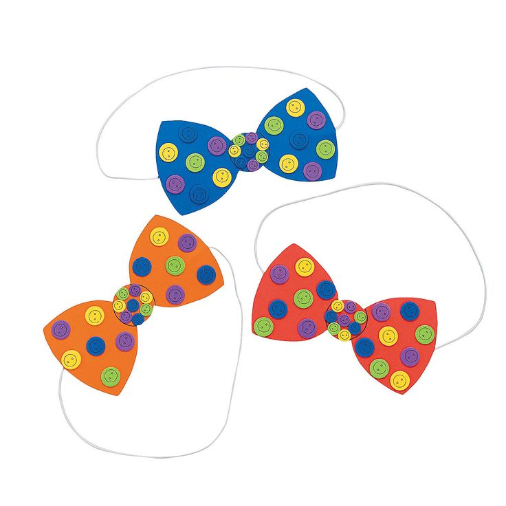 Button Bow Tie Craft Kit - OrientalTrading.com