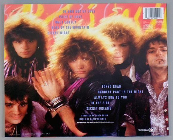 Album Back Cover Photo Bon Jovi 7800 176 Fahrenheit Vinyl