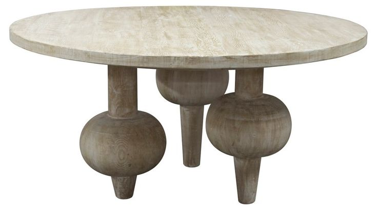 """Julie 60"""" Round Dining Table, Unfinished - CFC - Brands 