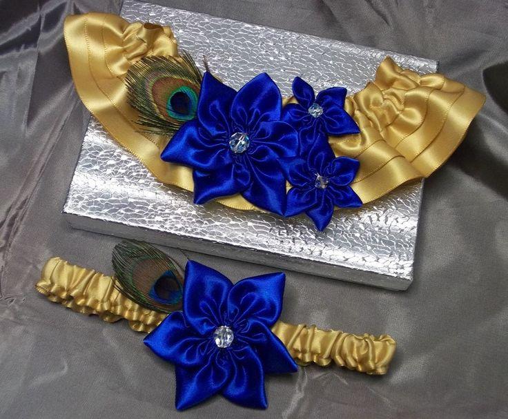Set de Liga de novia con flores de estrella por AllAHeartDesires