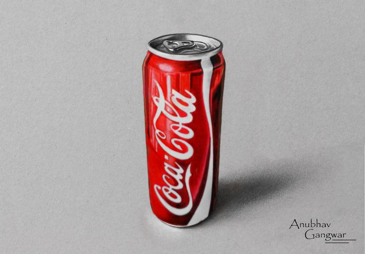 Coca Cola Can - Drawing