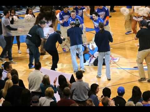Another winner from the MidFirst Money Shot! Justin Dougherty sank the shot from half-court and took home $20,000 during the Thunder vs. Portland Trail Blazers game on March 24, 2013.