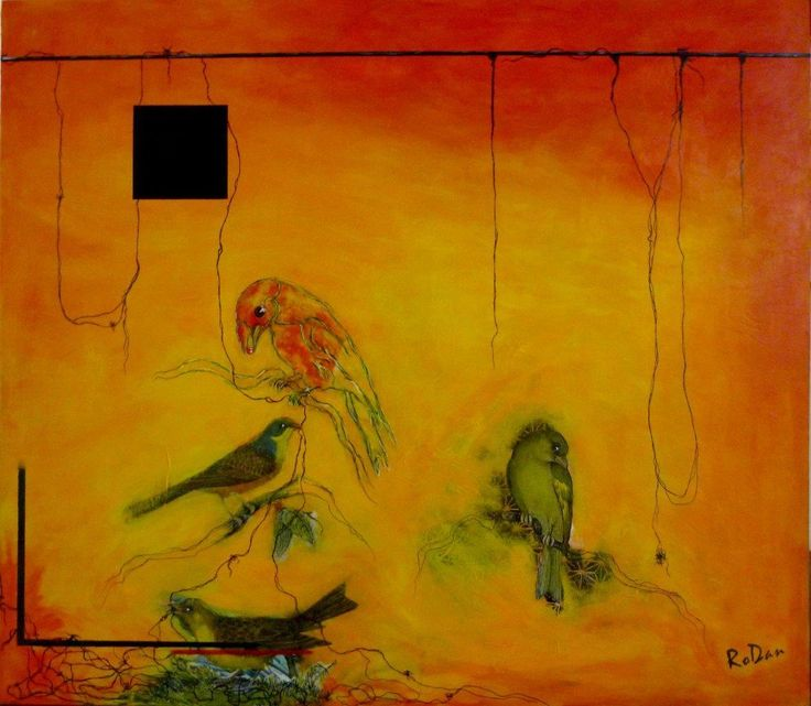 """""""The Meeting"""" by Robyn Dansie. Paintings for Sale. Bluethumb - Online Art Gallery"""