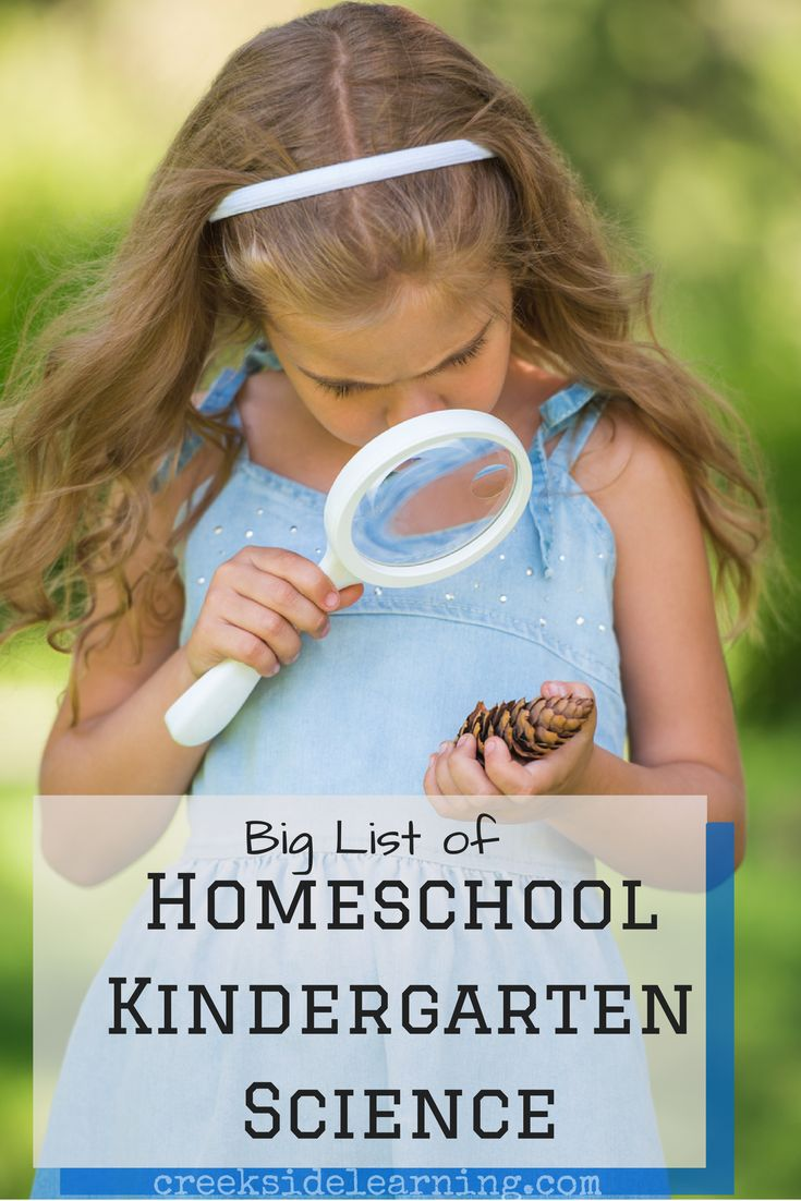 Homeschool Kindergarten Science | Creeksid Learning #homeschool #science #smilemom