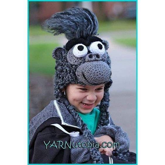 Has anyone seen the animated film 'Sing'? My Gorilla Hat crochet pattern is fashioned after the character Johnny from the show. This would make a great costume yet keep your little one warm throughout the colder season! Follow this link and get started today! ❤️ Nadia Link to blog or CLICK ON THE LINK IN MY BIO: https://yarnutopia.com/2016/09/17/gorilla-hat/ #crochet #crocheted #yarn #yarnutopia #imadethis #handmade #diy #crafty #yarnballs #yarnball #gorilla #jungle #monkey #hat...