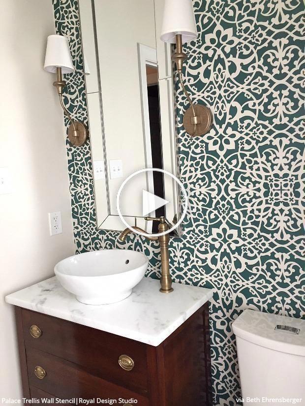 Pochoir Mural Marocain En Treillis De Palais Pochoirs Muraux Marocains Pochoir Mural Salle De Bains Papier Peint