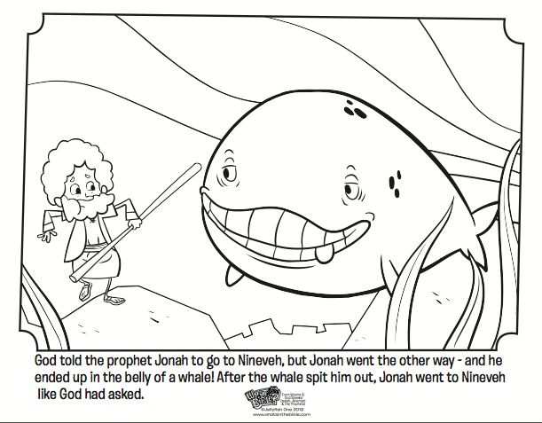 Kids Coloring Page From Whats In The Bible Featuring Jonah And Whale