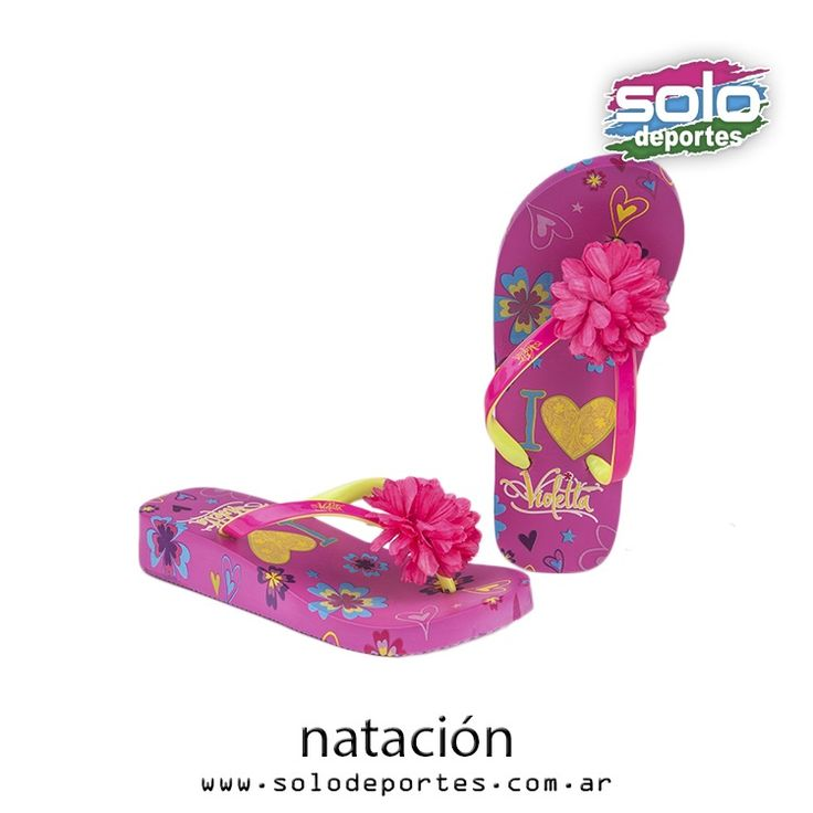 Ojotas Disney Flor Violetta Taco Kids Fucsia/Amarillo  Marca: Addnice 32001O004710002   $ 185,00 (U$S 28,03)