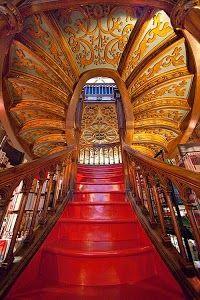 Livraria Lello & Irmão,Porto,Portugal: