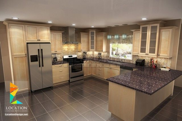 ديكورات مطابخ مودرن صغيرة 2019 2020 Traditional Kitchen Maple Cabinets Kitchen