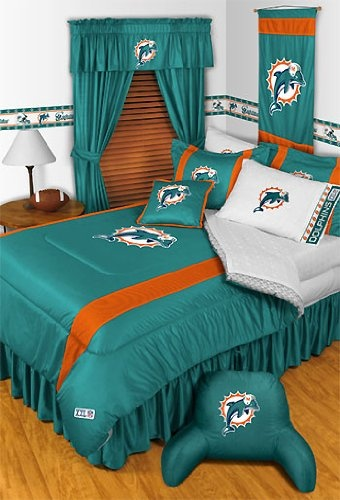 (Click to order - $99.99) NFL Miami Dolphins Bedding 2 Pc Twin Comforter Set From store51