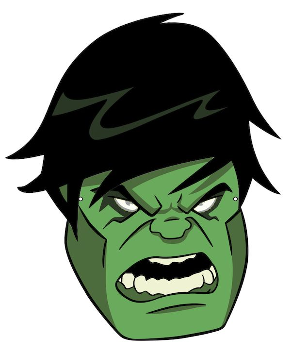 17 best images about kids printable halloween masks on for Incredible hulk face template