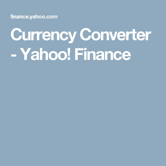 Yahoo finance forex exchange