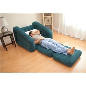 Sof cama poltrona colch o infl vel intex aveludado 2 em 1 for Poltrona cama individual