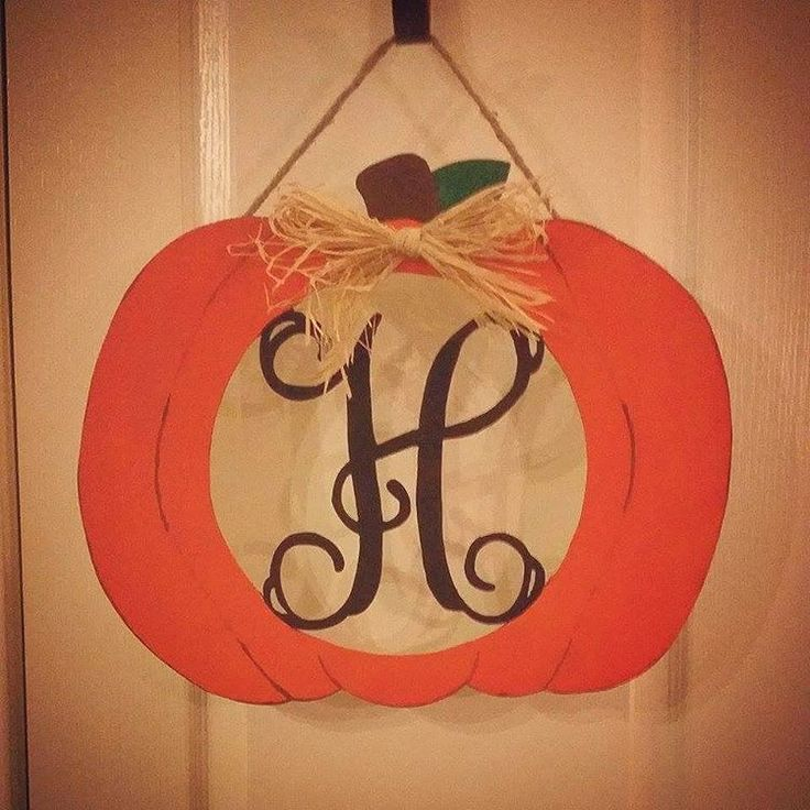 monogram pumpkin templates - making monogram pumpkin door hangers for halloween