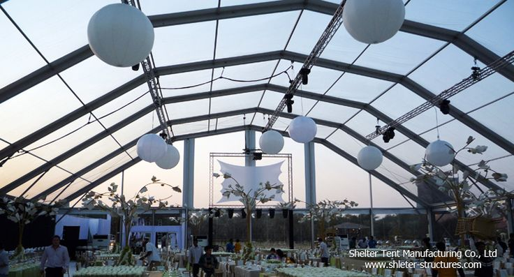 Party marquee with clear top, lightings from Shelter Tent-- the professional leading manufacturer of party tents.