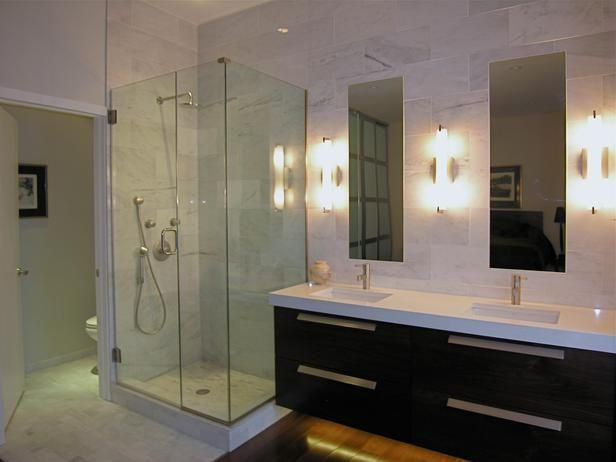 Bathroom With Glass Walk-In Shower and a View : Designers' Portfolio : HGTV - Home & Garden Television