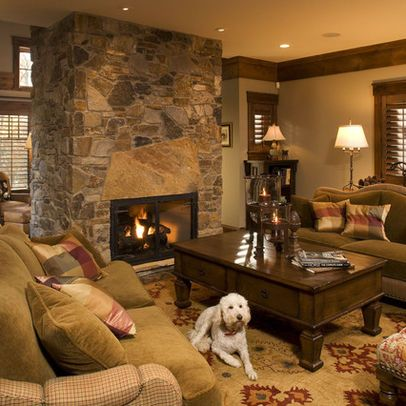 Living Room crown rustic molding Design Ideas, Pictures, Remodel and Decor