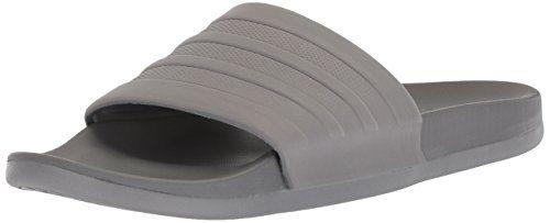 2a9ba645ed84 adidas Men s Adilette Comfort Slide Sandal Grey Grey Grey 12 M US