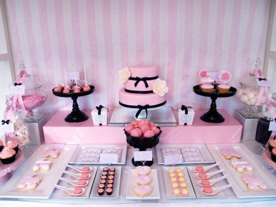 Bridal Shower Dessert Table Ideas pink ombre bridal shower ombre pink dessert table Cake Pops Cupcakes And Cake Buffet Style Dessert Tables Sweetie Pie Blog Baby Shower Dessertsparty Dessertsbridal