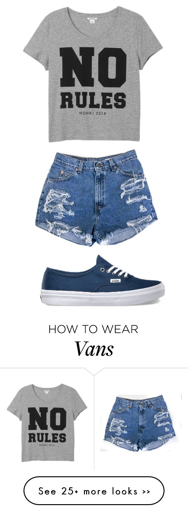 """"" by jasmine3345006 on Polyvore featuring mode, Vans et Monki"