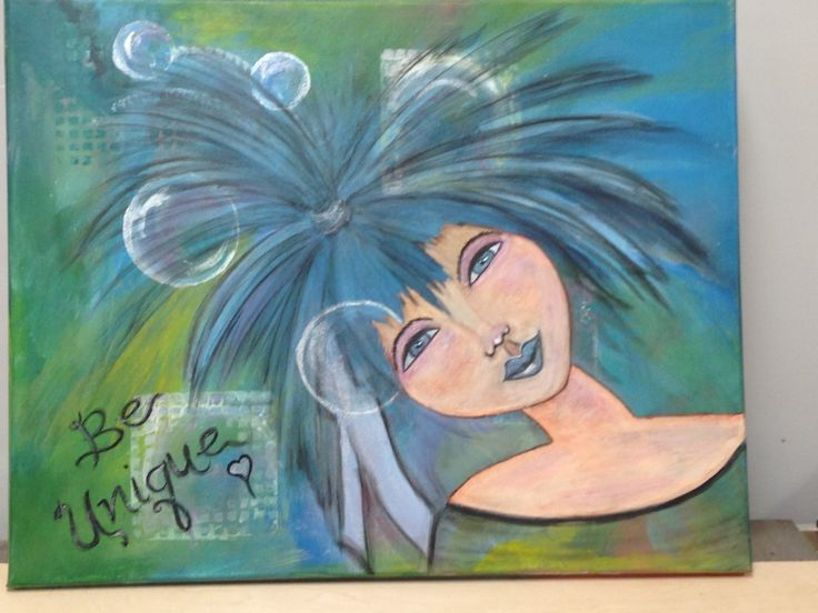Price:  $125.00  Mix Media on canvas Title:  Kerry   Collaborative art by Judy Wilson and Pat Kammer