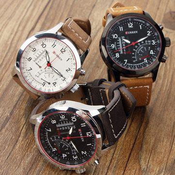 Only US$8.99 , shop CURREN 8152 Men PU Leather Band Live Waterproof Quartz Watch at Banggood.com. Buy fashion Men Watch online.