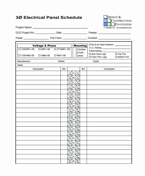 Elegant Panel Schedule Template Excel In 2020 Schedule Template