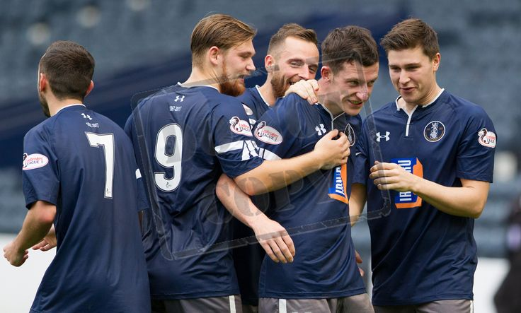 Queen's Park's David Galt celebrates his goal during the IRN-BRU Cup game between Queen's Park and Morton.