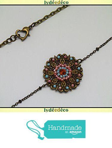 Headband fleur tissage perles japonaises toupie verre retro vintage rose corail bleu turquoise pastel laiton bronze accessoire cheveux mariage fête à partir des Lydee Deco https://www.amazon.fr/dp/B074D3ZJFL/ref=hnd_sw_r_pi_dp_RYvFzbGPGD8A2 #handmadeatamazon