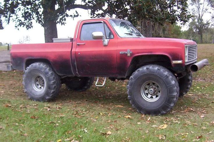 jacked up chevy trucks mudding - photo #40