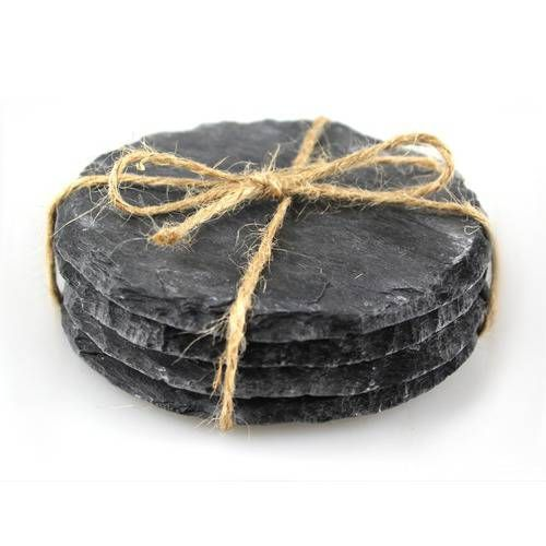 Reclaimed Slate Coasters, Circular set of 4, from Handcrafted by Haynes - £10 Handmade from reclaimed materials