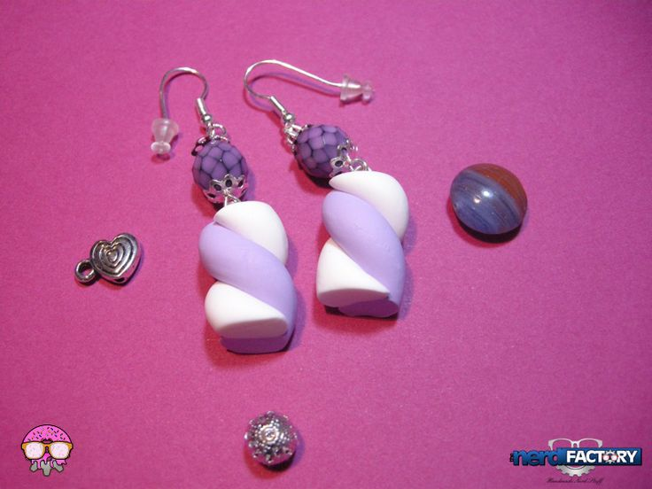 Marshmallow earrings hand-made! http://www.thenfactory.com/prodotto/marshmallows-orecchini/